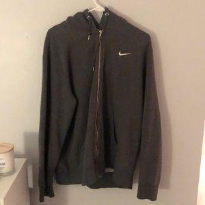 Gray Nike zip up